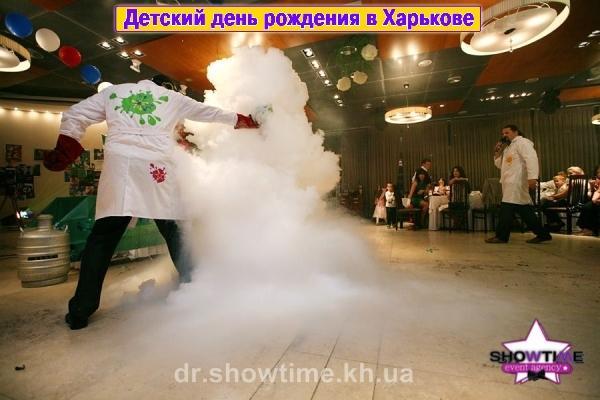 Шоу сумасшедших ученых на день рождения