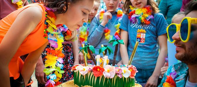 Детский день рождения Гавайская вечеринка